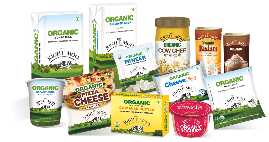 Organic Cow Milk & Milk products